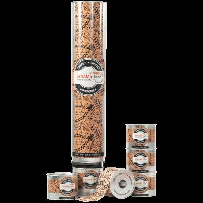 Dynamic Tape 6 ролів (5 см. х 5 м.) + диспенсер